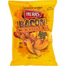 Herr's Bacon Cheddar Cheese Curls (198g) - 12 Packs