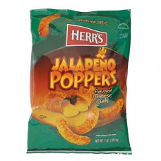 Herr's Jalapeno Poppers Cheese Curls Large (198g) - 12 Packs