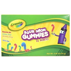Crayola Fun Sour Neon Worms 2.46oz