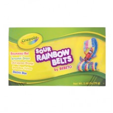 Crayola Fun Sour Rainbow Belts 2.46oz