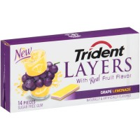 Trident Layers Juicy Grape Lemonade New