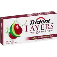 Trident Layers Sweet Cherry and Island Lime New