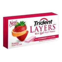 Trident Layers Wild Strawberry and Tangy Citrus New
