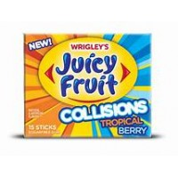 Juicy Fruit 15 Sticks Collisions Tropical Berry