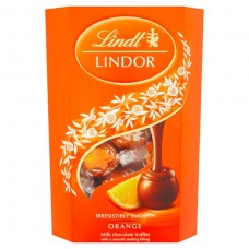 Lindt lindor milk orange cornet