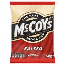 The Real McCoy's Ridge Cut Salted Crisps (50g) - 30Packs