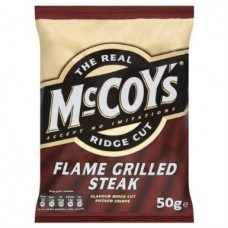 The Real McCoy's Ridge Cut Steak Crisps (50g) - 30Packs