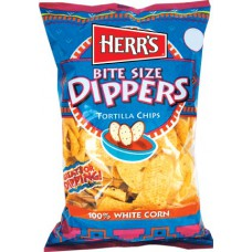 Herr's Tortilla Bite Size Chips Dipper White Corn