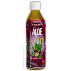 Just Drink Aloe Vera Drink Passion Fruit (500ml) x 12Pack