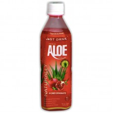 Just Drink Aloe Vera Drink Pomegranate (500ml) x 12Pack
